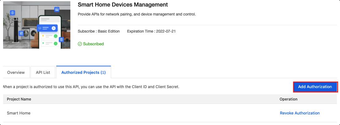Manage API Services