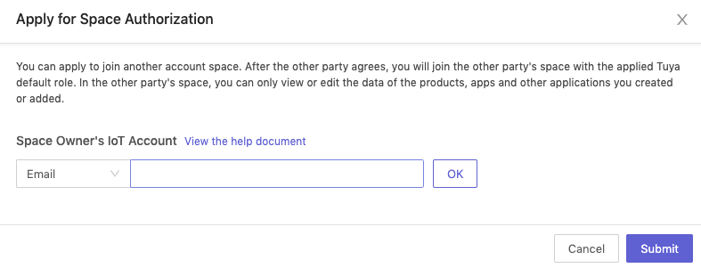 Account Authorization in Organization Space