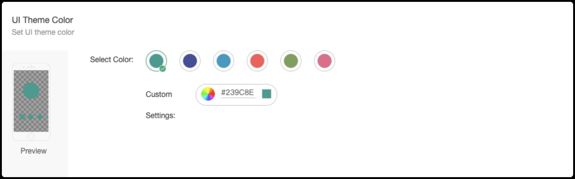 Panel Configuration