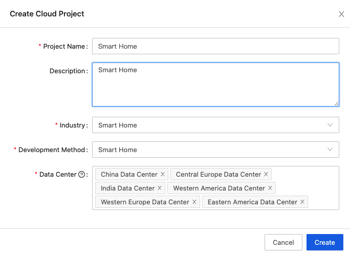 Configuration Wizard of Smart Home PaaS