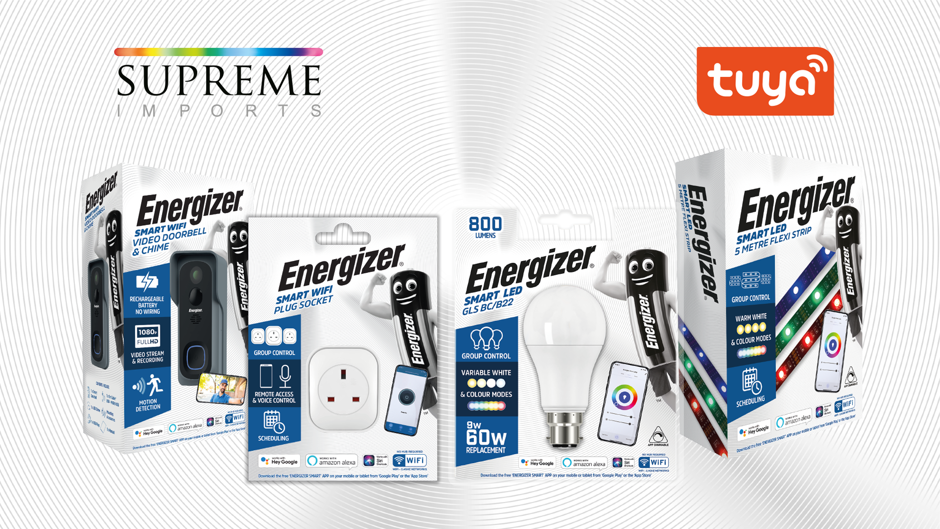 (Energizer Smart Home Products Powered by Tuya)