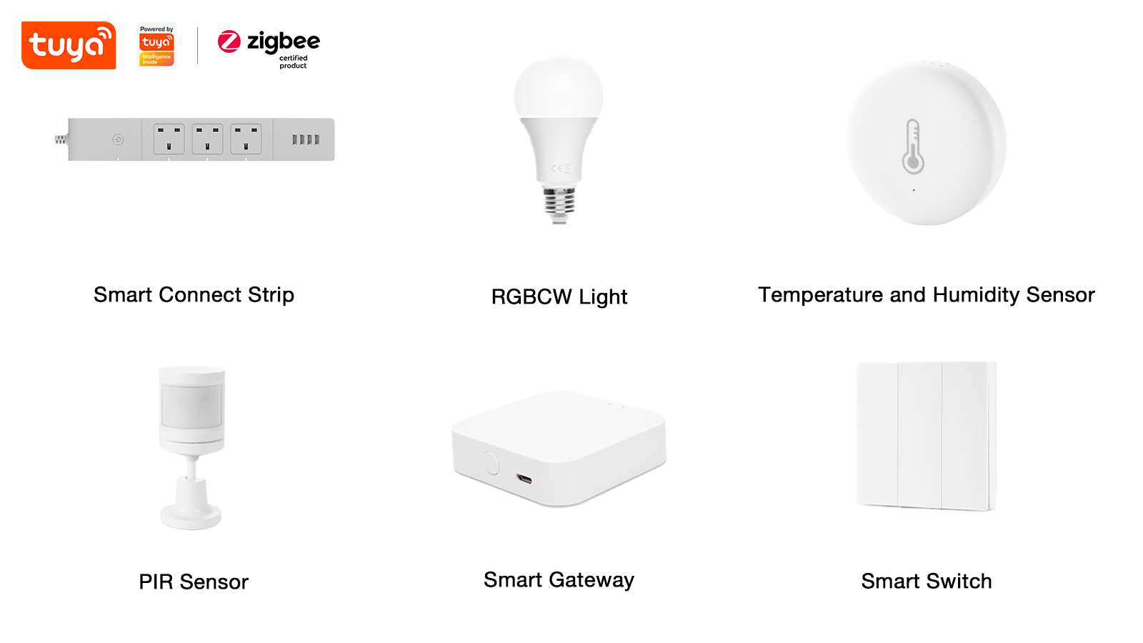 Zigbee certified products that are powered by Tuya