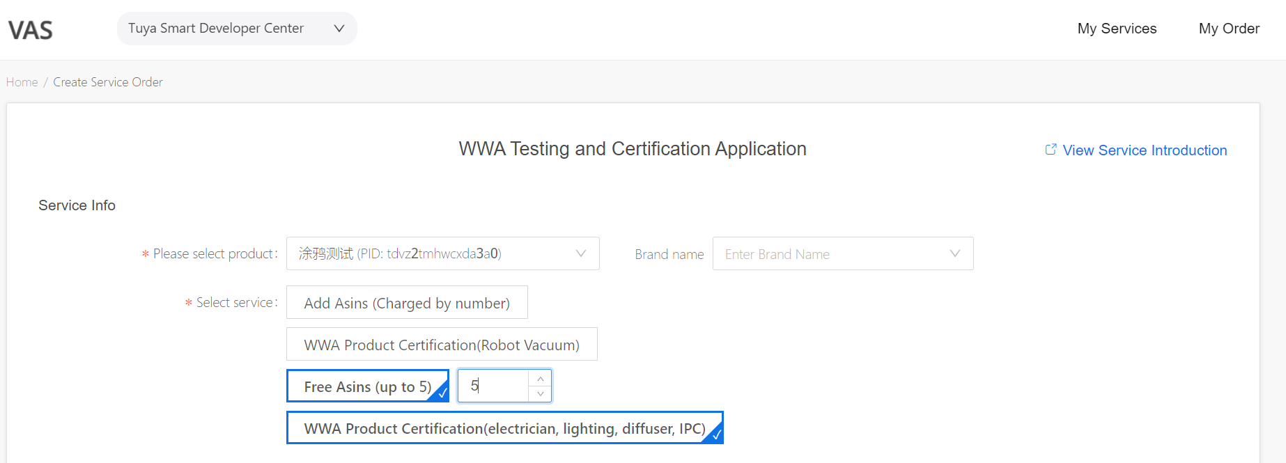 WWA Testing and Certification Application