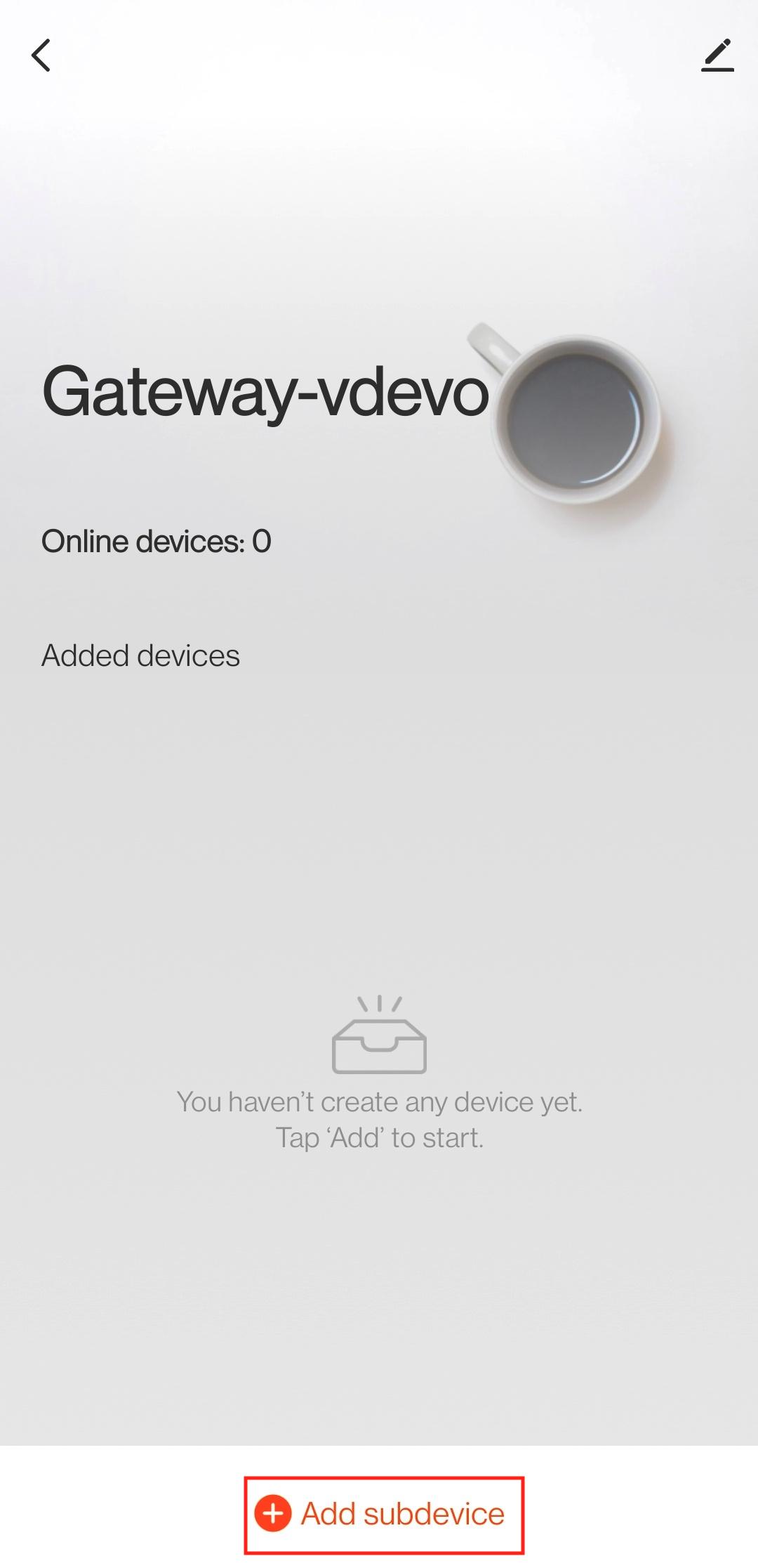 Add sub-device