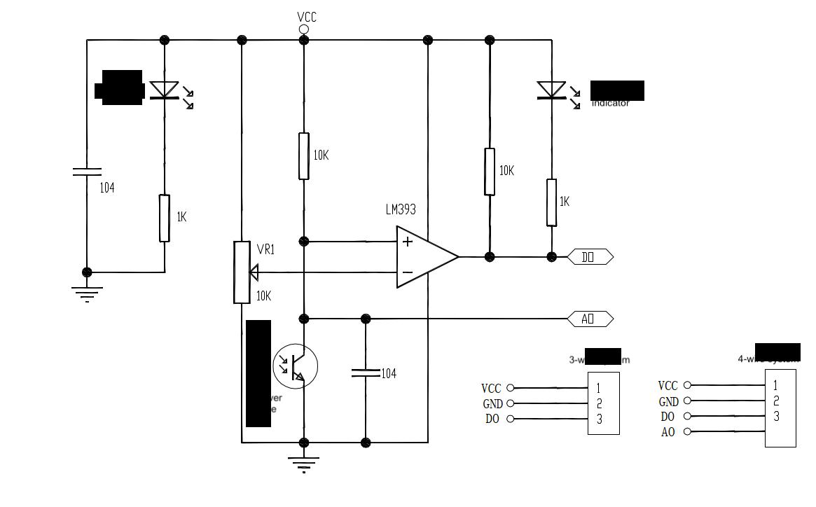 Schematic diagram of flame sensor