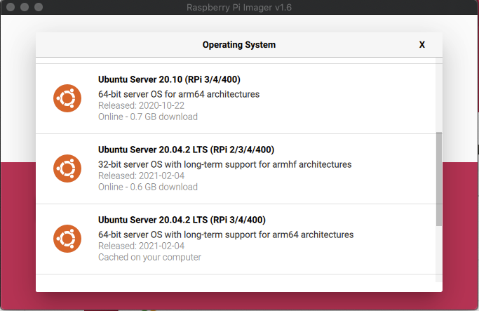 Select Ubuntu Server