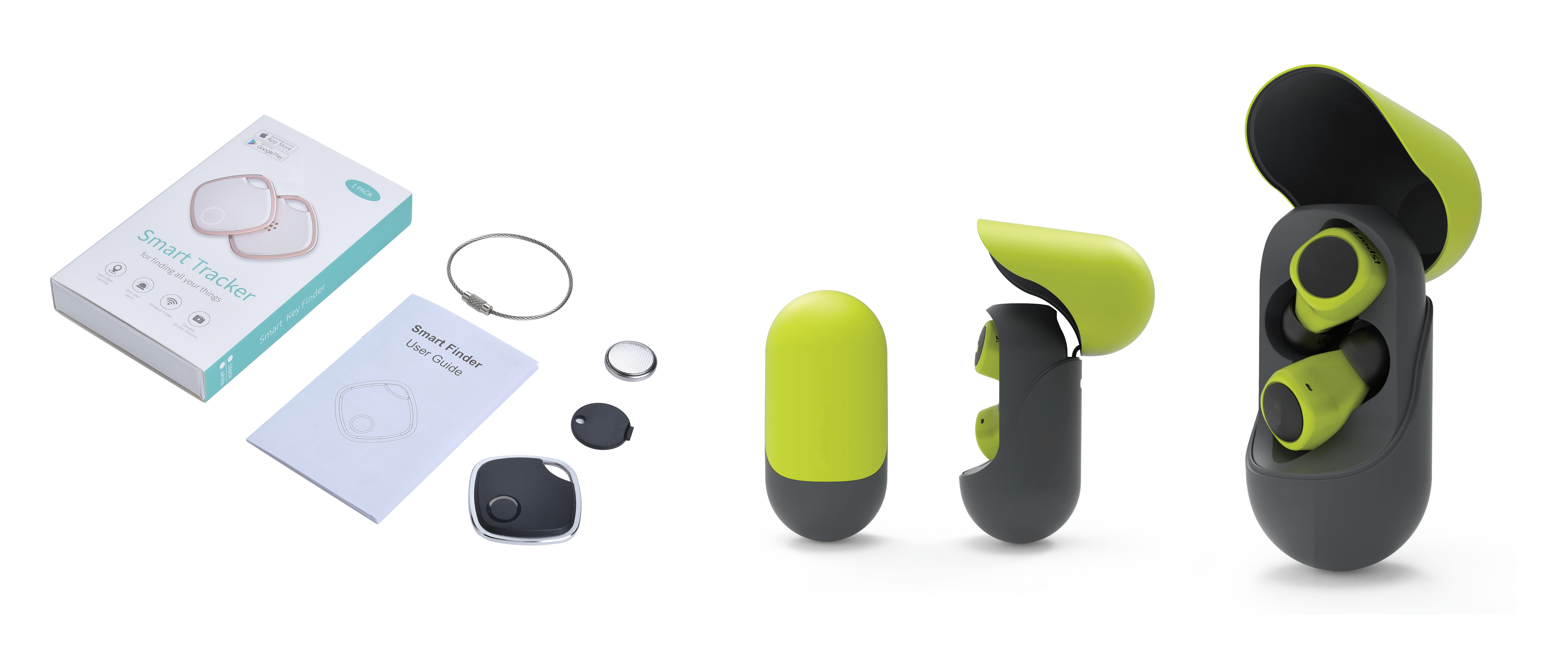【Left: Bluetooth Anti-lost Finder,Right: TWS Bluetooth Earbuds】
